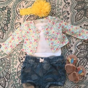 Baby girl floral cardigan